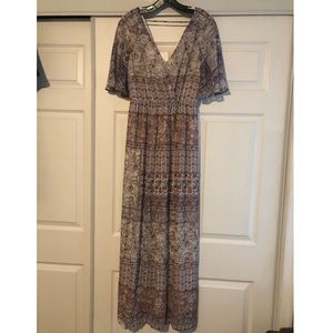 Fully Lined Patterned Maxi